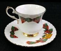 Elizabethan The Loomcrofters Tea Cup and Saucer Bone China New Brunswick Tartan