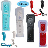 NEW Built in Motion Plus Remote Controller and Nunchuck for Nintendo Wii & Wii U