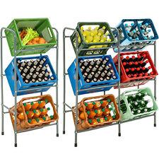 Étagère en acier pour 3 / 6 caisses meuble de rangement de boissons bouteilles