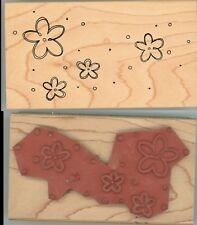 Rubber Stamp Block - Great Impressions - Flowers, Floral Pattern C-4