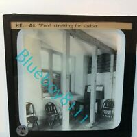 WW2 Home Front ARP Wardens Instruction Glass Slide Wood Shelter Strutting