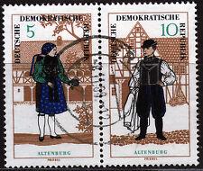 DDR 1214/15, WZd 162, O, Volkstrachten-Zusammendruck