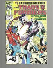 TRANSFORMERS #2 1984 Marvel Comic VF+ 8.5