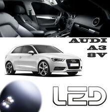 AUDI A3 8V Pack 7 Ampoules LED Blanc éclairage Sol tapis Pied plafonnier Coffre