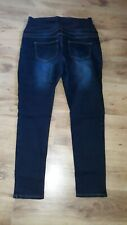 PAPAYA MATERNITY LADIES JEANS IN BLUE COLOUR, SIZE UK 16, ELASTICATED WAIST