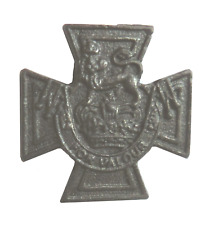 Victoria Cross VC Medal Miniature Replica Bronze Plated Small Pewter Pin Badge