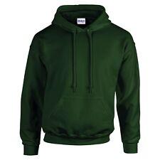 Gildan Unisex Heavy Blend  Adult Activewear Hoodie Pull Over Top  Forest Green