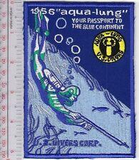 SCUBA Diving USA US Divers Aqua-Lung 1956 Catalog Cover Los Angeles, CA Blue