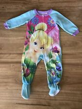 Great Condition Girls Tinkerbell Pyjamas Sleepsuit with Feet Enclosed Size 2