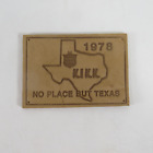 Vintage 1978 Lone Star Beer KIKK Houston Texas Radio Leather Patch