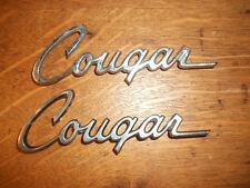TWO ORIGINAL 1970's CHROME MERCURY COUGAR FENDER EMBLEMS