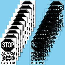 Aufkleber Sticker Alarm System Alarmanlage Sicherheitsystem Fenster Balkon Tür