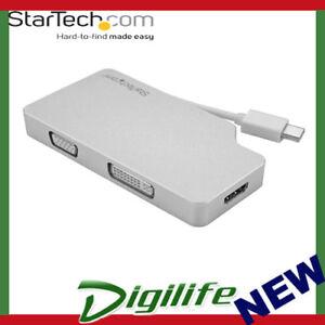 StarTech Aluminum Travel A/V Adapter 3-in-1 Mini DisplayPort to VGA, DVI or HDMI