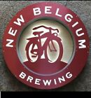 fat tire beer bike bicycle led light up bar bamboo sign game room Belgium