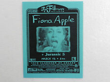 Fiona Apple Poster 2000 March 16 The Fillmore