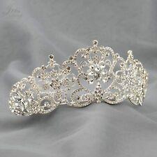 Gorgeous Clear Austrian Crystal Rhinestone Tiara Crown Bridal Party Pageant 6026