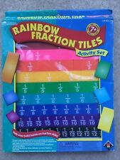 Learning Resources Rainbow Fraction Tiles Set - ideal for home schooling