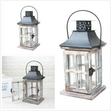 Vintage Wooden Candle Lantern Moroccan Style Home Wedding Hanging Candle Holder