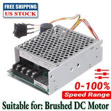 Dc 10 55v Max 60a Pwm Motor Speed Controller Cw Ccw Reversible 12v 24v 36v