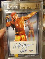 ⭐BGS 9.5⭐WWE WCW Hulk Hogan 2016 The Bar Platinum 1/1 PSA/DNA Cert. Auto