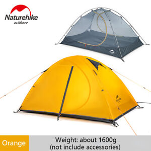 Naturehike Camping Tent 2 Person Orange Tent Outdoor Ultralight Backpacking Tent
