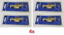 Lot 1x, 2x, 3x, 4x Rigid Door Stopper Holder Safety Catch Guard w/ Screws Brass