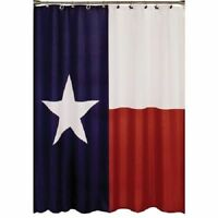 """Fabric Shower Curtain, Texas Flag, Waterproof and Mildew Resistant,71"""" x 71"""