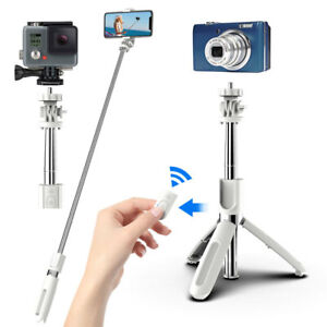 For iPhone 12 11 Pro Max/XR/8/7/6 Selfie Stick Extendable Wireless Remote Tripod