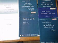 Julian Wachner books x 7 Jubilate Deo Canticles Alleluias Regina Coeli + 3 Satb