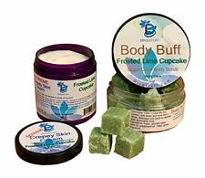Extreme Crepey Skin, Body, & Face Cream & Sugar Scrub Set ,Frosted Lime Cupcake