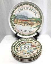 Williams Sonoma Chemin de Fer Gare de Lyon Paris Round Platter & 4 Plates Set