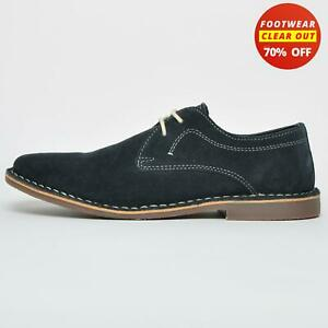 SALE - Red Tape Real Suede Leather Yuma Mens Casual Desert Dress Shoes Navy