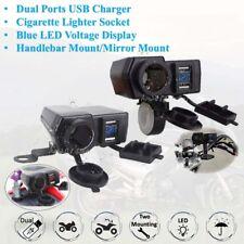 12-24V Dual USB Charger LED Voltmeter For Honda Shadow Aero Phantom VLX 750 1100