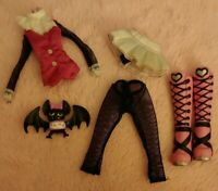 💕MONSTER HIGH Original Draculaura First Wave Outfit & Count Fabulous Bat 💕