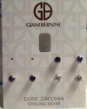 Giani Bernini Sterling Silver Multi Stone CZ Stud Trio Earrings NWT $70