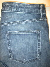 Gap 1969 Real Straight Stretch Womens Blue Jeans Size 29 R x 28 destroyed New
