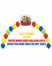 Sega Super Mario Bros Birthday Party BALLOON ARCH for Cake Table Gift Table