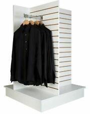 4 Way Slatwall Display Merchandiser White Melamine Finish Knock Down Sm 4ww