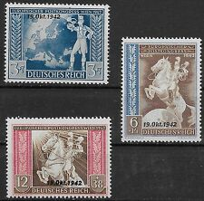 Germany Third Reich 1942 Mi# 823-825 MNH European Postal Union Agreement **