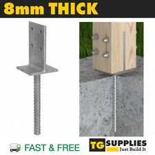 Heavy Duty Galvanised Concrete In Elevated Concealed Internal Post Support Base
