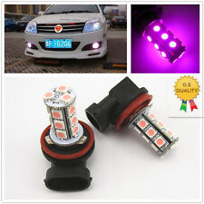 2 x Off Road Xenon Pink H8 H11 18-5050 SMD LED Fog Light Driving HeadLight Bulbs