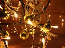 Gold Christmas Ball Warm White LED String Lights, Christmas Lights, Party Lights