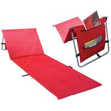 NEW COMFORTABLE ADJUSTABLE FOLDING SUN LOUNGER BED MAT PICNIC BEACH CAMPING
