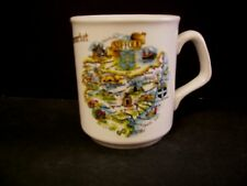 Newmarket Suffolk United Kingdom Map of City on Coffee Mug Liverpool Rd Pottery