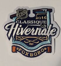 NHL 2016 Classique Hivernale Patch Gillette Stadium Bruins Canadiens French LNH
