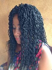 """20"""" Handmade black Braided Wig!   Made with Premium Synthetic Hair."""