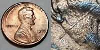 1989 - 10% OFF CENTER - SCAR FACE LINCOLN MEMORIAL CENT MAJOR MINT ERROR  #10567