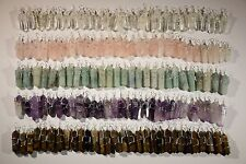 Wholesale Lot of 10 Handmade SemiPrecious Wire Wrapped Crystal Pendants U-Pick