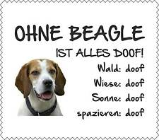 """Displayreinigunstuch Beagle """"ALLES DOOF"""" Brillenputztuch Hund GT0005"""