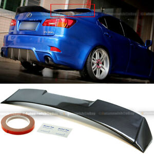 Fit 06-12 IS250 IS350 ISF V2 Full Carbon Fiber Rear Window Roof Wing Spoiler